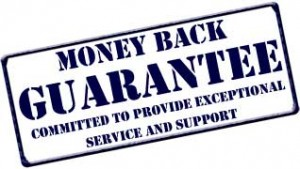 Lornit's Money Back Guarantee Sign