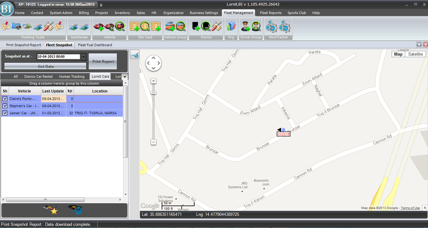 Vehicle Tracking in Malta and GozoLornit – technology company